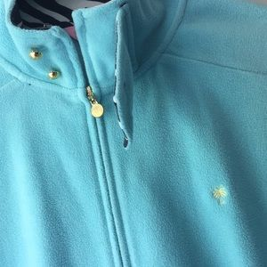 Lilly Pulitzer turquoise zip up